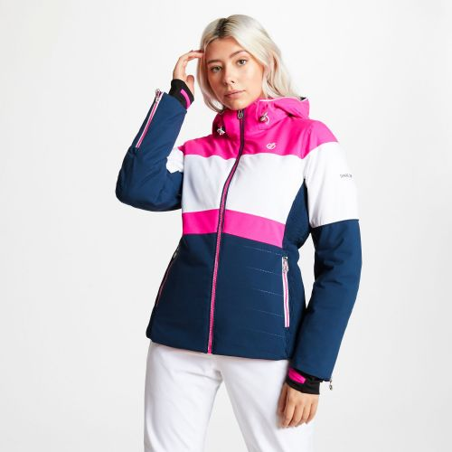 Women's Avowal Ski Jacket Blue Wing White Cyber Pink